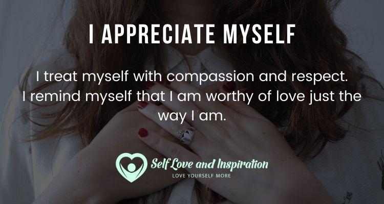 I Appreciate Myself